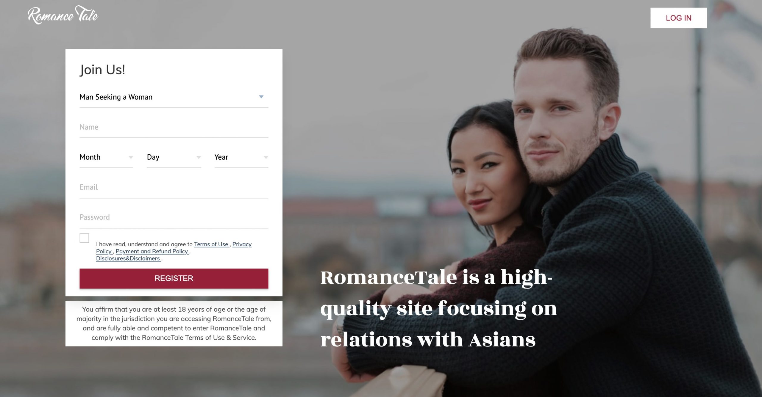 RomanceTale main page