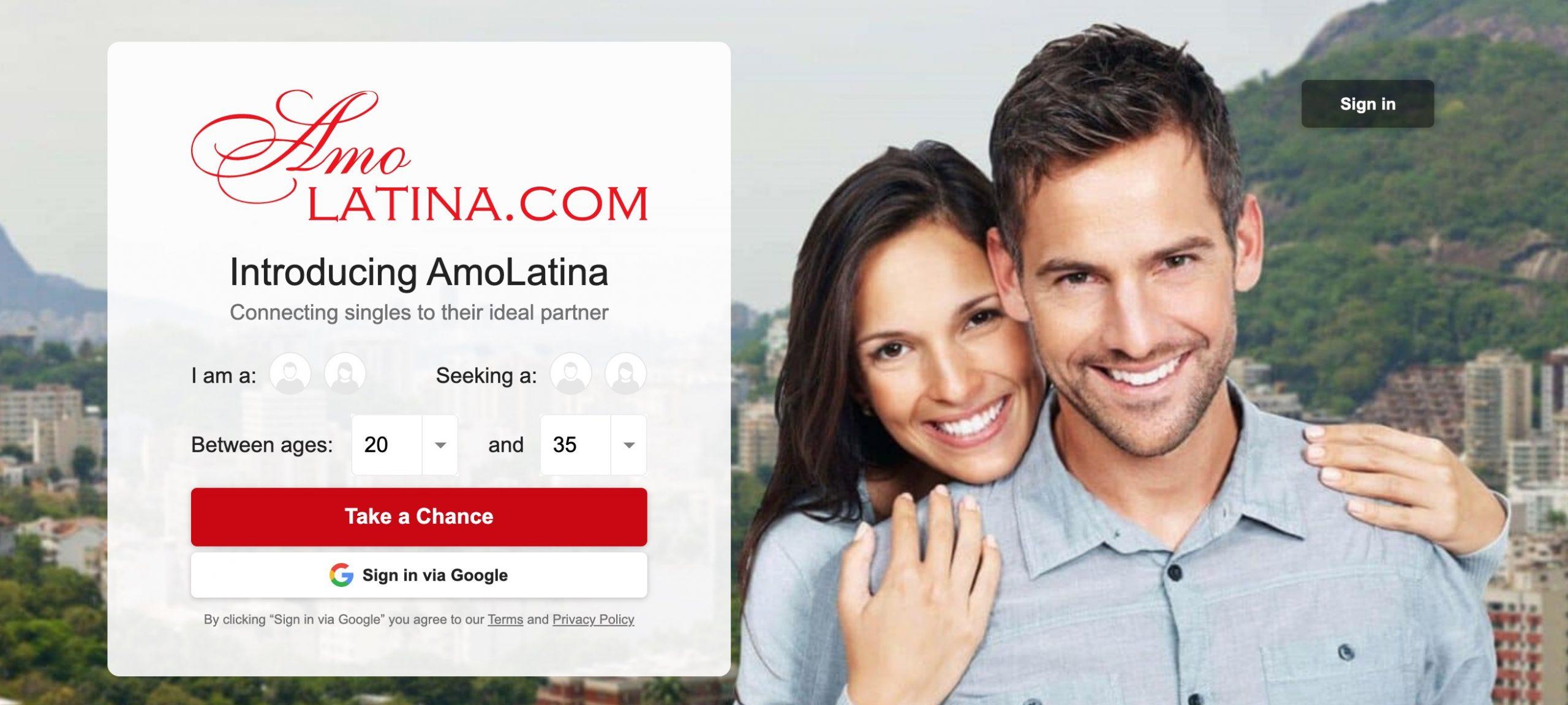 AmoLatina main page