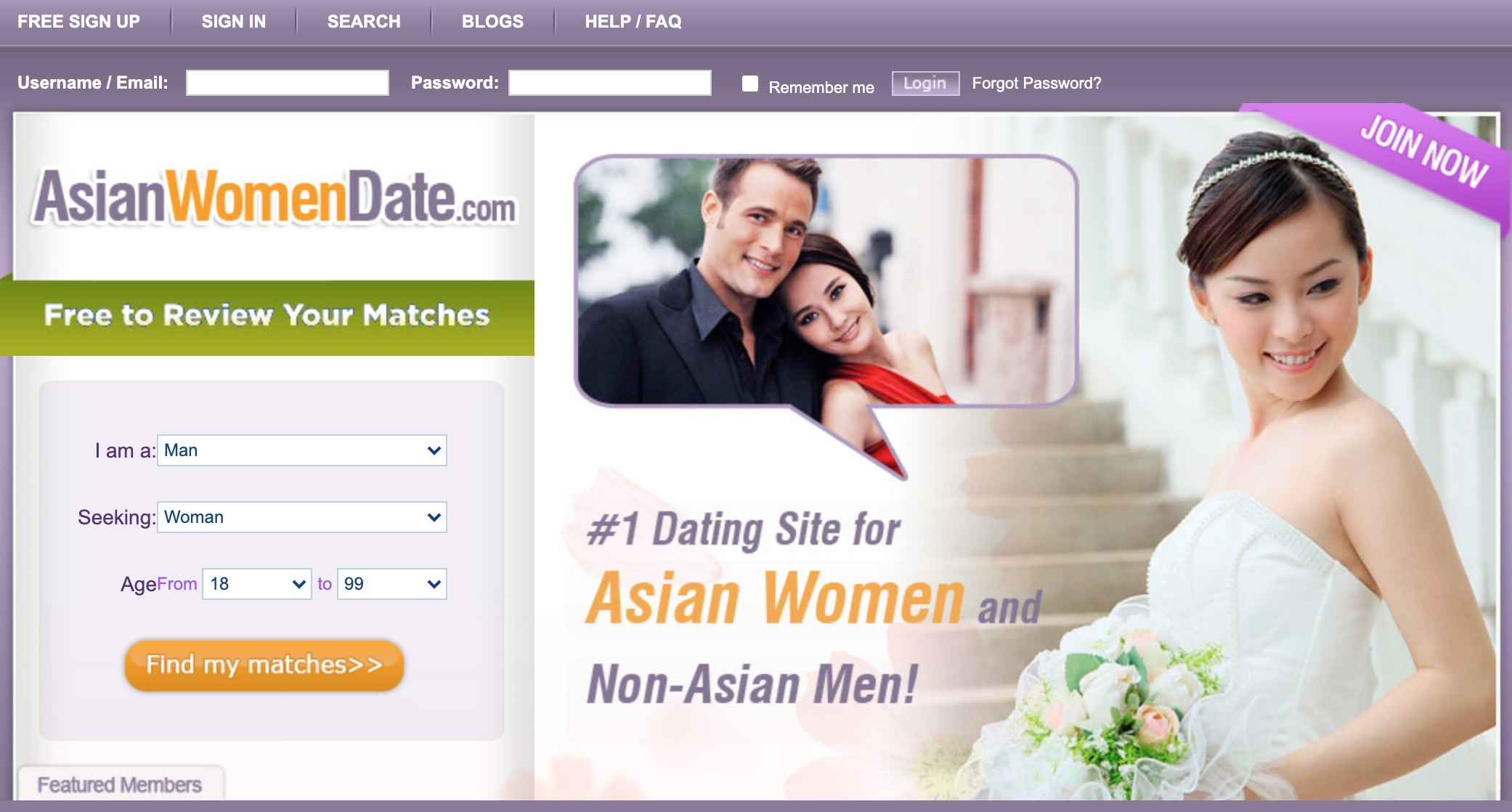 AsianWomenDate main page