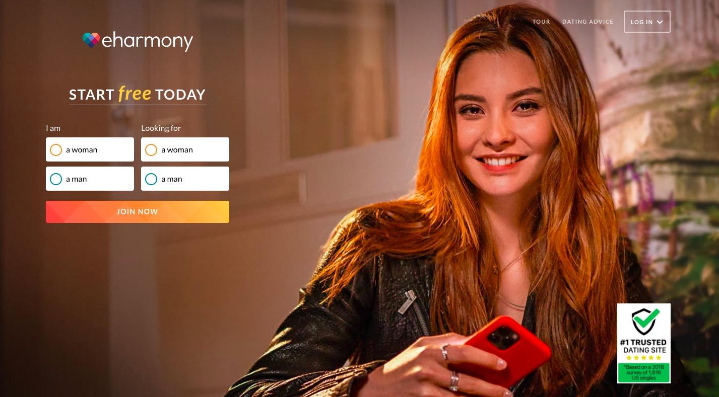 Eharmony main page