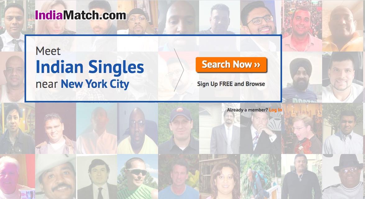 IndiaMatch main page