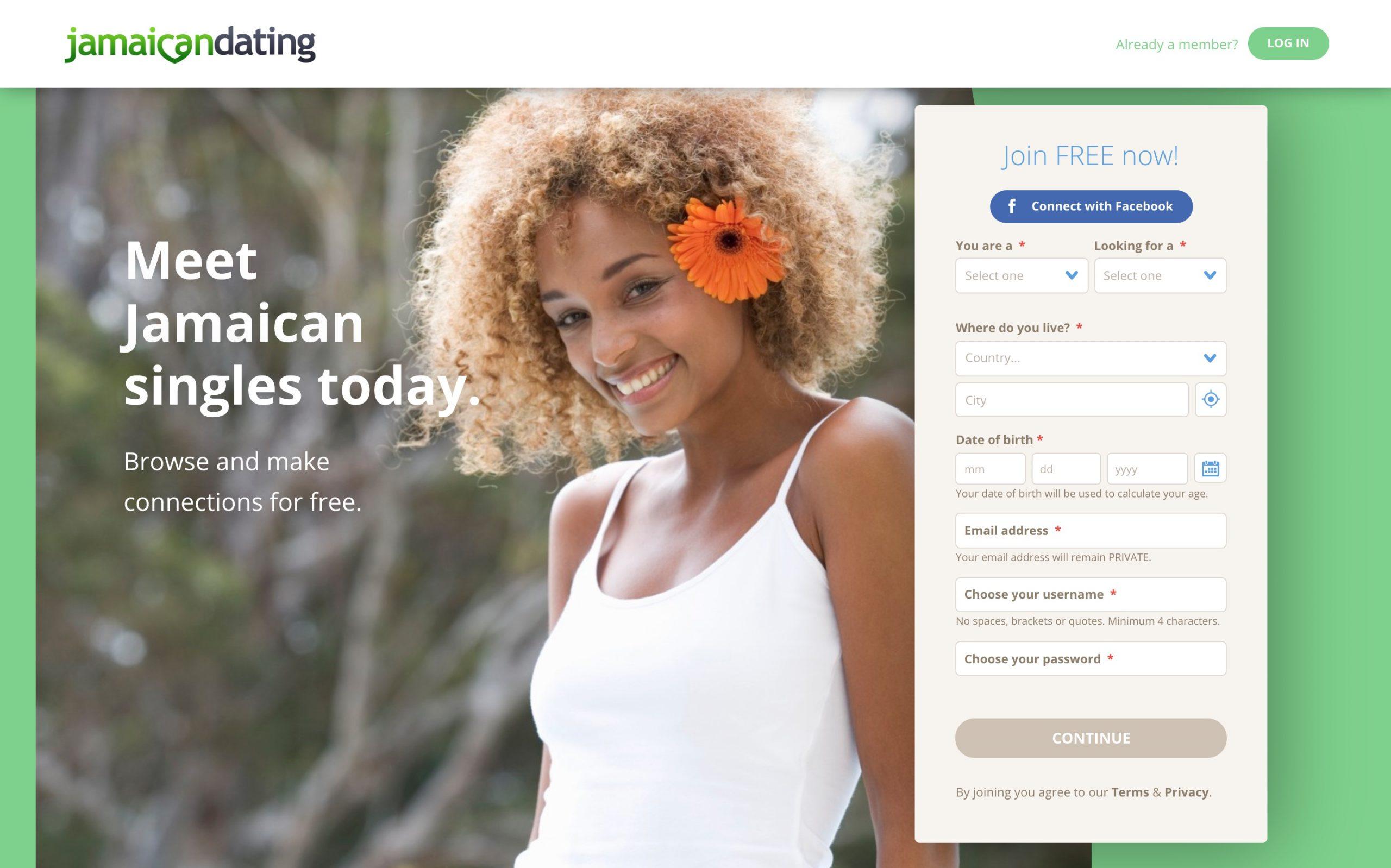 JamaicanDating main page